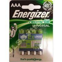 4 x ENERGIZER AAA 500 mAh Wiederaufladbare Batterien Accu aufladen Universell