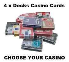 More details for 4 x decks of las vegas casino cards - 50+ to choose from all popular casinos