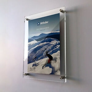 A1 Acrylic Sandwich Wall Mounted Sign Holders /  Poster Holders /Menu Displays