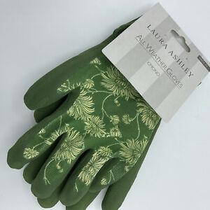 Laura Ashley All Weather Gloves Gardening Gloves Green Kimono Print Medium