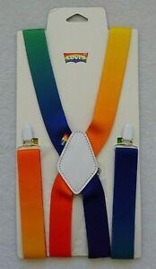 Levis Pride Rainbow Suspenders Adjustable Ombre Clip On