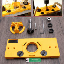Concealed Hinge Boring Hole Cutter Guide w/ 6pcs Wood Forstner Drill 15-35mm