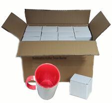 (1,39€/1Stk) 36x Sublimation Fototasse Kaffee Tassen Becher WEISS HENKEL ROT