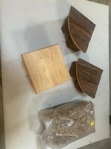 3 Hamster Häuser aus Holz,