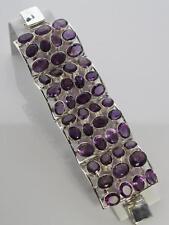 """Cuff Amethyst Sterling Silver 7 - 7.49"""" Fine Bracelets"""