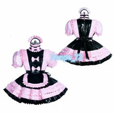 Sissy Maid pink-black PVC Dress vinyl unisex CD/TV Tailor-made