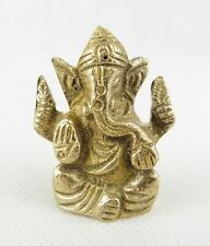 Lord Ganesh Small Brass Hindu God Statue Deity 3.6cm