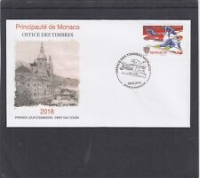 Monaco 2018 Winter Olympic Games bobsleigh skiing First Day Cover FDC