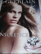 AFFICHE POSTER GEANT GUERLAIN FEMME- Hilary  SWANK- 2008  180x120  TBE (ROULEE)
