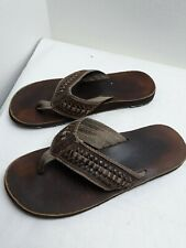 REEF BROWN LEATHER FLIP FLOPS MENS SIZE 9