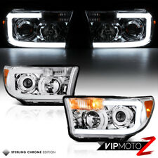[OLED NEON TUBE] 2007-2013 Toyota Tundra Chrome Projector Headlights Headlamps