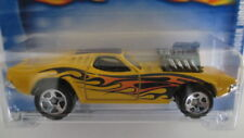 2001 Hot Wheels #186 RODGER DODGER yellow with flames
