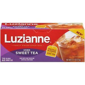 Luzianne Family Sized Iced Sweet Tea 22 Tea Bags 4.27oz
