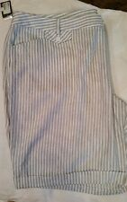 INC International Concepts 24W Taupe White Shorts NWT