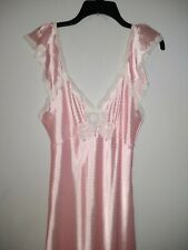 Vintage Christian Dior Lingerie Polka Dot Full Length Night Gown Ilgwu Usa sz M
