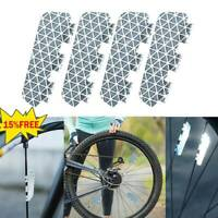 4Pcs/Set Double-sided Reflective Film Safety Motorcycle Bike Reflector Tapes
