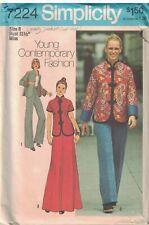 7224 Vintage Simplicity Sewing Pattern Misses Jacket Skirt Pants Oriental Style