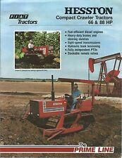 Farm Tractor Brochure - Hesston - 665C M 955C - Compact Crawler -1982 (F5411)
