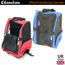 Pet Travel Carrier Pull Along Bag - Small Cat, Dog Portable Crate