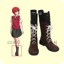 New The Ancient Magus' Bride Chise Hatori Cosplay Shoes Boots custom A.556