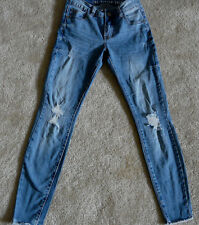 """COTTON ON JEANS """"THE RIPPED SKINNY 7/8"""" DESTROYED DESIGN SEXY SECOND SKIN STYLE"""