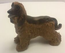 Vintage Jie Sweden Afghan Dog Pottery Sculpture Figurine