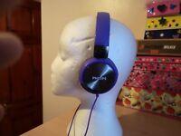 philips SHL3160 headphones purple - wired- NO PACKAGING