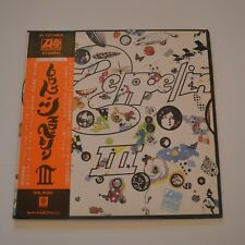LED ZEPPELIN - LED ZEPPELIN III -  1971 JAPAN LP WITH POSTER