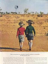 1962  Australian National Travel PRINT AD 1/100 Should visit Outback Youngsters