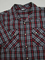 Mens Large The North Face Esken Shirt pearl snap multicolor plaid