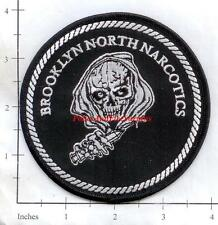 New York - New York City Brooklyn North Narcotics NY Police Dept Patch - Skull