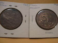 TWO Mexico 20 CENTAVOS  1965 & 1969 mexican coins coin x2