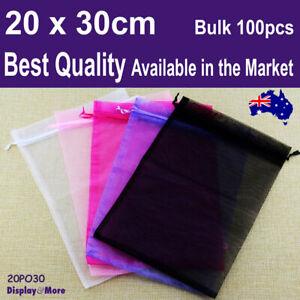 Organza Bag Pouch X-Large | BULK 100pcs 20 x 30cm | BEST QUALITY | AUS Stock