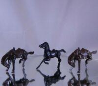 3 Vintage Western Horses Bucking & Trotting Rodeo Bergen Cowboys & Indians