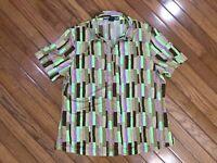 Jamie Sadock Women's 1/4 Zip Golf Polo Shirt Top Blouse Size L