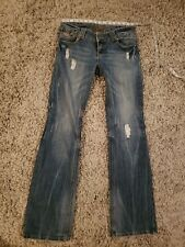 Almost Famous Jeans sz 7 x 33 Distressed