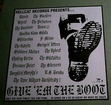Give 'Em the Boot Ska and Punk Promo Poster Rancid Hepcat Business Skulls Utters