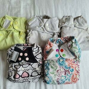 5 Bumgenius Freetime Nappies Pre-loved