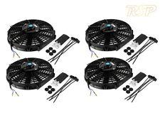 "4 x 14"" Slim Universal Electric Radiator / Intercooler Cooling Fan & Fitting Kit"