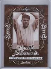 BABE RUTH 2016 Leaf Babe Ruth Collection Career Achievements #CA7 (C5060)