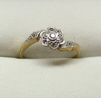 Antique18 Carat Gold And Platinum Diamond Daisy Cluster Ring With Accents