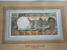 UNDATED 1969-1992 NEW CALEDONIA 500 FRANCS NOTE SERIAL# 89304  UNC SELECT (MR)