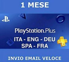 PlayStation plus 1 mese-spedizione gratuita-ps plus