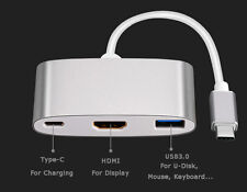 Type C USB 3.1 Male to USB-C 4K HDMI USB3.0 Adapter 3 in 1 Hub For Apple Macbook