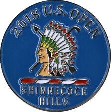 2018 US Open (SHINNECOCK HILLS) -Flat- (BLUE) Logo Golf BALL MARKER
