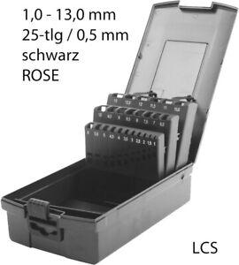 Bohrerbox LEER für 25 Bohrer 1,0 - 13 mm Kunststoffkassette Rose Bohrerkassette