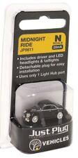 N scale Woodland Scenics Just Plug Lighted Vehicle Midnight Ride Car JP5611