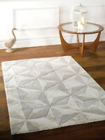 Botanical Scorpio Beige Light Gold Handtufted Wool Rug available in 2 sizes