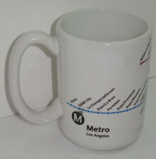 UNUSED LOS ANGELES LA METRO ROUTE MAP COFFEE MUG/CUP! IN COLOR! MADE IN USA