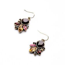 Costume Fashion Earrings Pendant Little Flower Drop Brown Amber Pink Red C2